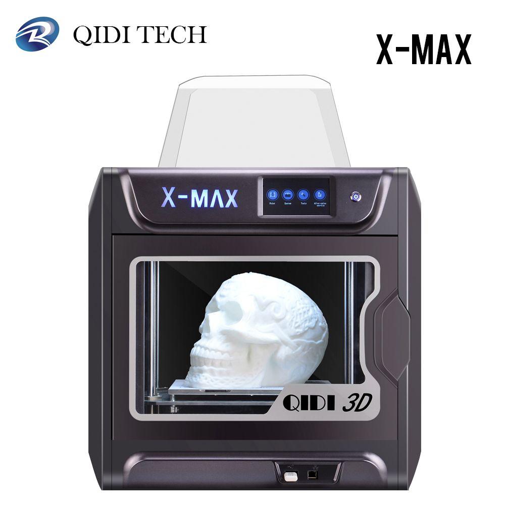 QIDI X-MAX 3D Drucker Große Größe Intelligente Industrie Grade Impresora 3D Hohe Präzision Drucken mit PLA, TPU, flexible 3D Drucker