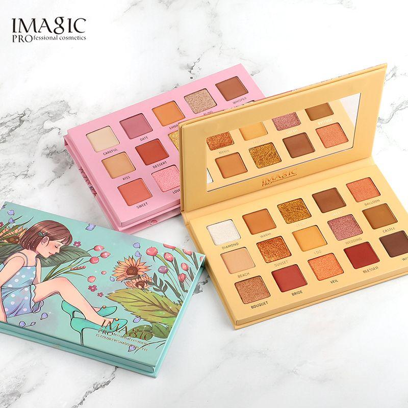 IMAGIC Palette fard à paupières 15 couleurs mat miroitant paillettes mat Paleta De Maquiagem collection charmante Oogschaduw Kleurenpalet