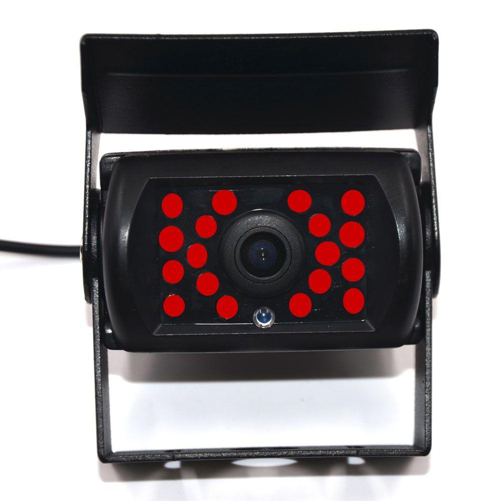 Caméra de recul arrière de voiture 9-36v arrière caméra de recul avant ou camion de ligne camion Bus avec 18 IR vision nocturne étanche large degré pour 2 din Android GSP DVD MP5 Autoradio Vedio 10 7 5 lecteur de moniteur 4.3 pouces