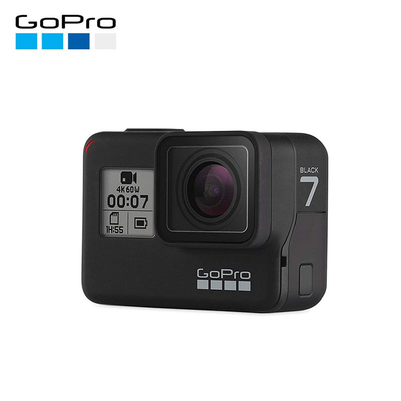 Original GoPro HERO 7 Schwarz Action Kamera 4K 60fps 1080P 240fps video Gehen Pro Sport cam 12MP Foto wifi Live-Streaming Hero7
