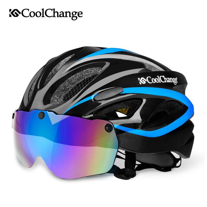 CoolChange casque vélo EPS filet insecte route vtt vélo coupe-vent lentilles intégralement-moulé casque cyclisme Casco Ciclismo