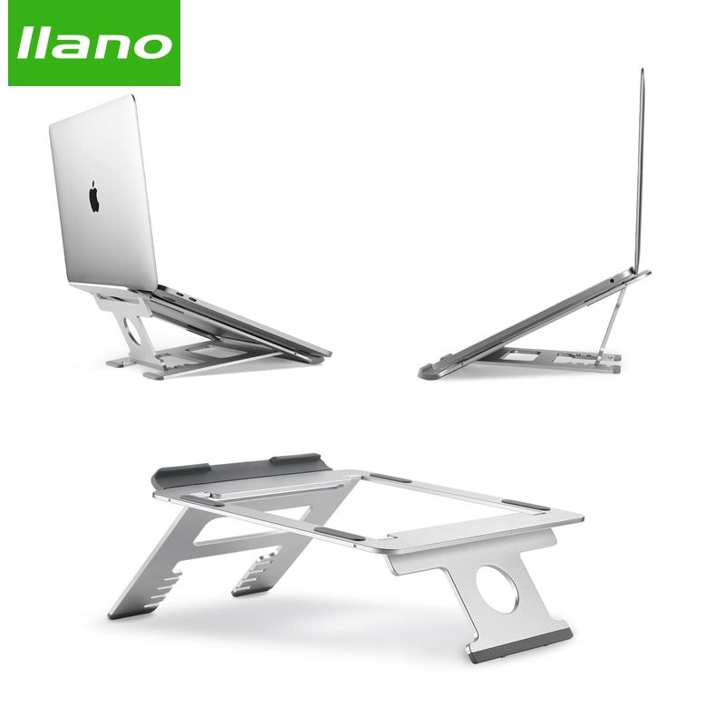 Silber Aluminium Laptop Stand Tablet Ständer Universal für Apple MacBook Air Pro 11-15 zoll Folding Einstellbare Büro Notebook