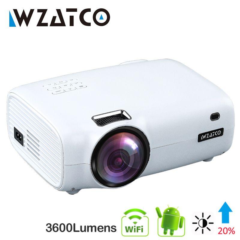WZATCO CTL80 Android 6 Wifi Smart Portable Mini LED 3D TV projecteur Support Full HD 1080p 4K vidéo Home cinéma projecteur