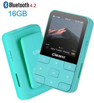 Mini Clip Sport Bluetooth4.2 MP3 Player 2019 New Version MP3 Music Player with FM, Recorder, Support TF/SD Card + Free Armband