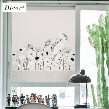 Stained Film Vitre Fenetre Static Cling Window Film Privacy Hydrodipping Frosted Opaque Glass Stickers Window Sticker Flower New