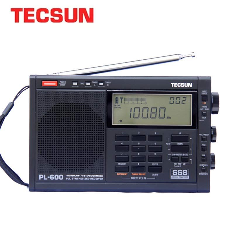 TECSUN PL-600 Radio numérique réglage pleine bande FM/MW/SW-SSB/PLL récepteur de Radio stéréo synthétisé (4xAA) PL600 Radio Portable