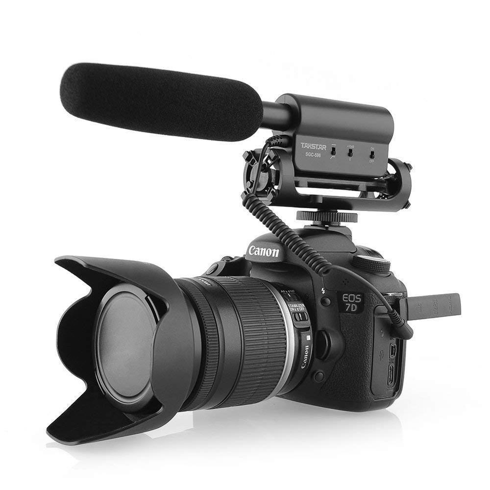 Takstar SGC-598 DV caméra Microphone enregistrement photographie fusil de chasse condensateur entretien micro pour CANON NIKON DSLR