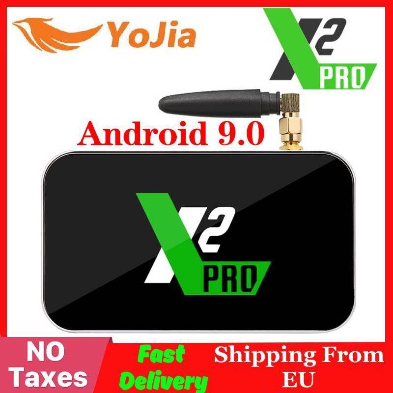 X2 Pro TV Box Android 9.0 4K lecteur multimédia intelligent X2 CUBE 2G 16G Amlogic S905X2 2.4/5GHz WiFi 1000M Bluetooth 4GB 32GB décodeur