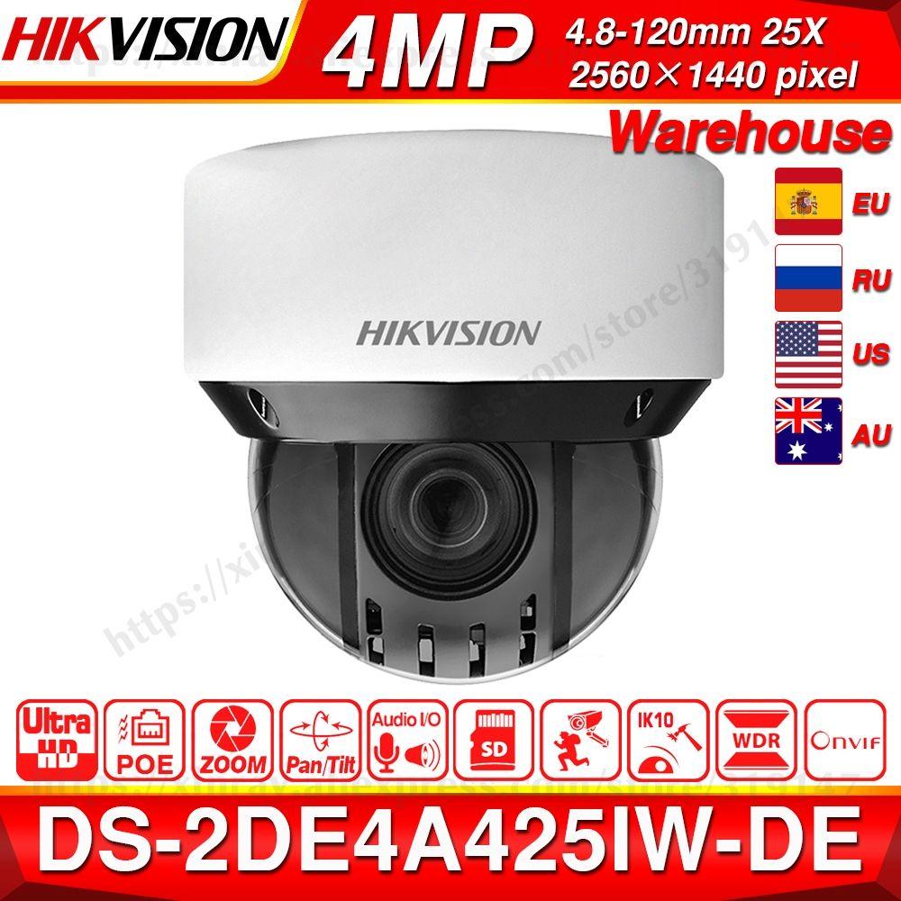 Pre-verkauf Hikvision Original PTZ IP Kamera DS-2DE4A425IW-DE 4MP 4-100mm 25X zoom Netzwerk POE H.265 IK10 ROI WDR DNR