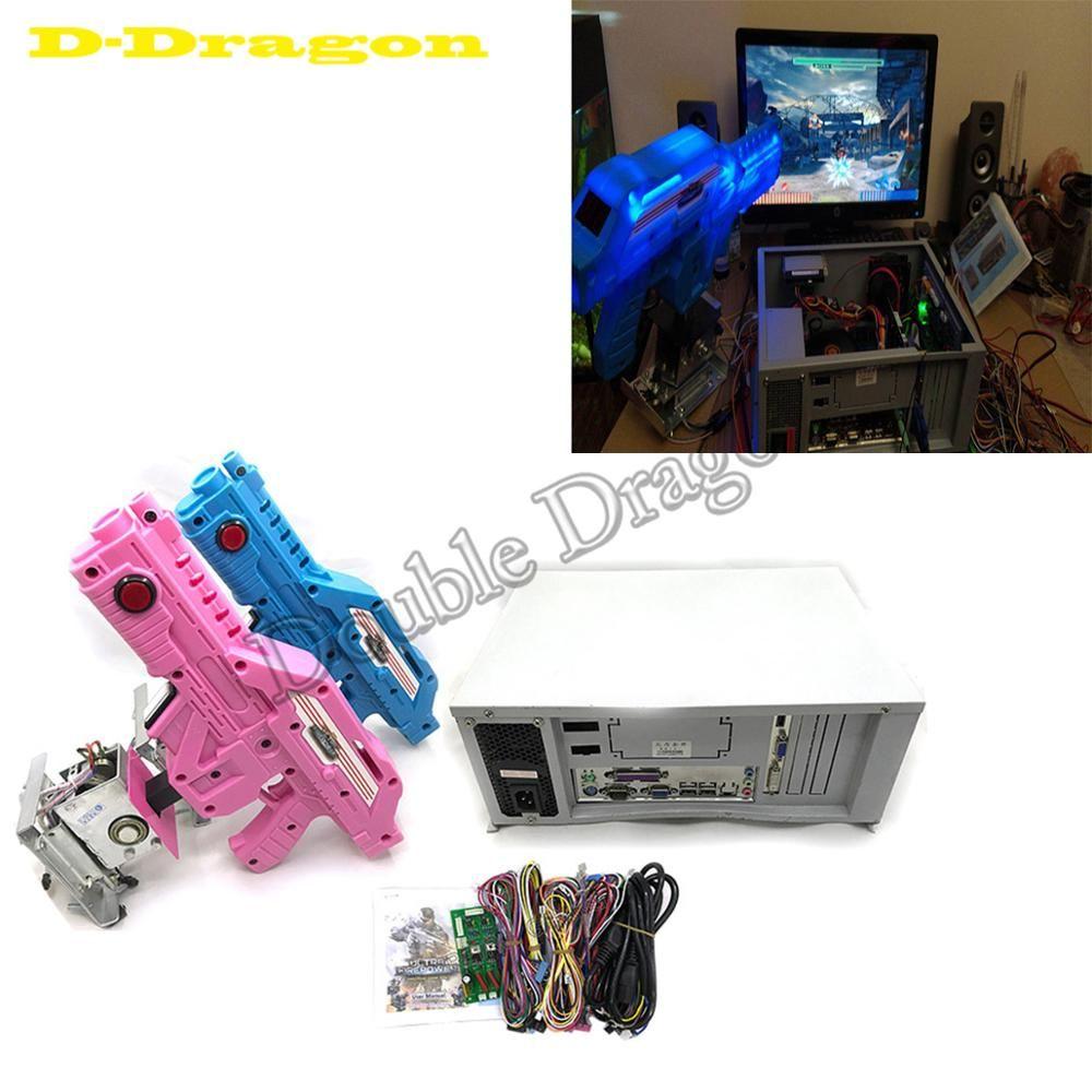 Arcade Maschine Kits Aliens Farcry HOD3 3 in 1 Arcade-Simulator Schießen Mothergame Bord Spiel Konsole Kits mit 2 pistolen