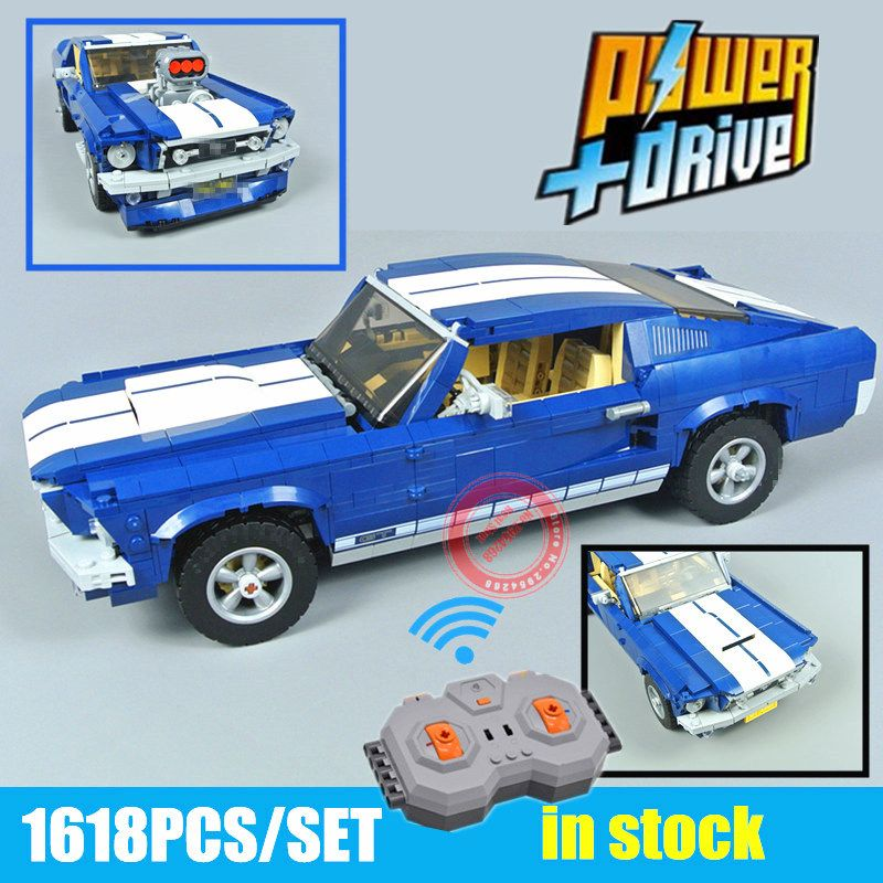 Nouveau GT500 1967 créateur Ford Mustang Technic moteur puissance fonctions modèle blocs de construction briques jouet cadeau d'anniversaire Fit 21047 10265