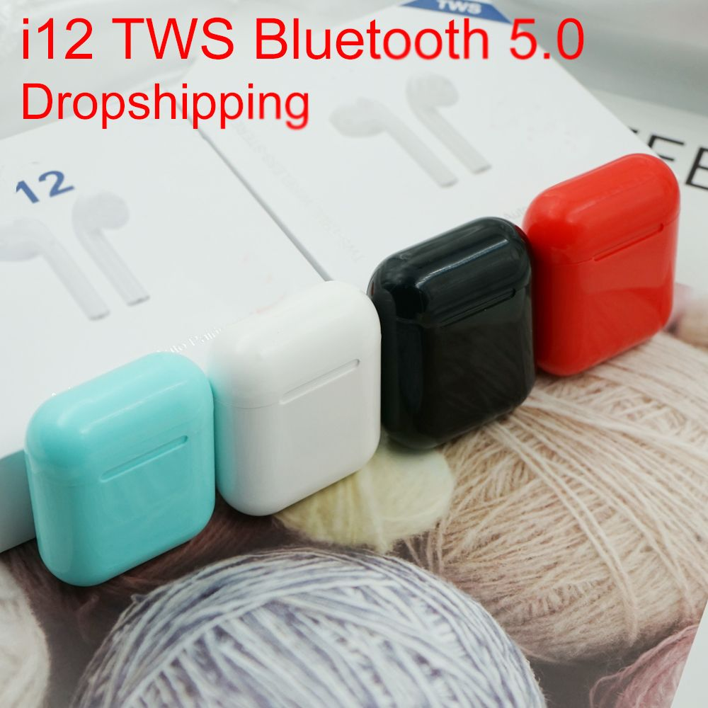 New i12 tws original pop-up Bluetooth headset wireless touch mini headset mini gaming headset for Android phones i100