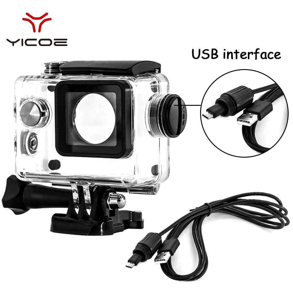 Pour Eken H9 Sj4000 WiFi 4K Action Sport caméra plongée sous-marine étanche boîtier boîtier boîtier protecteur accessoires Kit