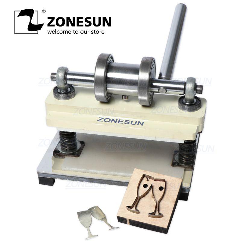 ZONESUN manuel en cuir Machine de découpe à la main boucle d'oreille découpe Machine de pressage pour personnalisé Clicker Die en acier règle Die