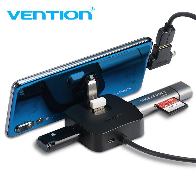 Prise en charge 4 ports USB 3.0 HUB avec Port d'alimentation Micro USB et support pour téléphone répartiteur USB lecteur de carte adaptateur pour ordinateur portable Hub pour tablette USB 2.0
