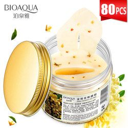BIOAQUA 80pcs Gold Osmanthus Eye Mask for Eye Care Anti-Puffiness Moisturizing Sleeping Eye Patches Remove Dark Circles Eye Bag