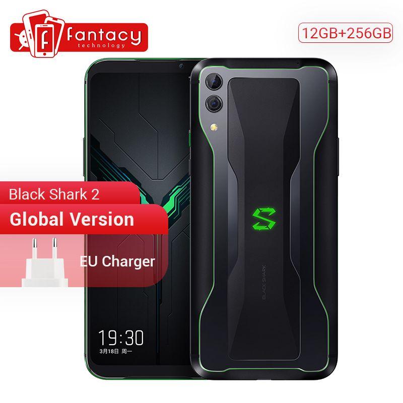 Globale Version Xiaomi Schwarz Shark 2 12GB 256GB Spiel Telefon Snapdragon 855 Octa Core 6,39