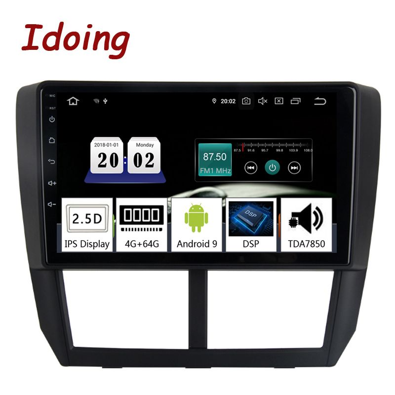 Idoing 9 Auto Android9.0 Radio Multimedia Player Für Subaru Forester 2008-2012 PX5 4G + 64G 8 Core GPS Navigation 2.5D IPS TDA 7850