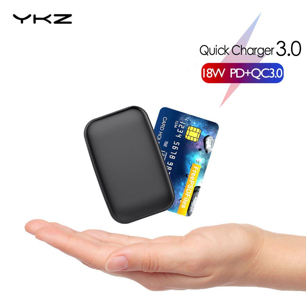 YKZ mini batterie externe 10000mAh Pover Bank QC 3.0 Type C PD charge rapide Powerbank chargeur batterie externe pour iPhone Xiao mi mi