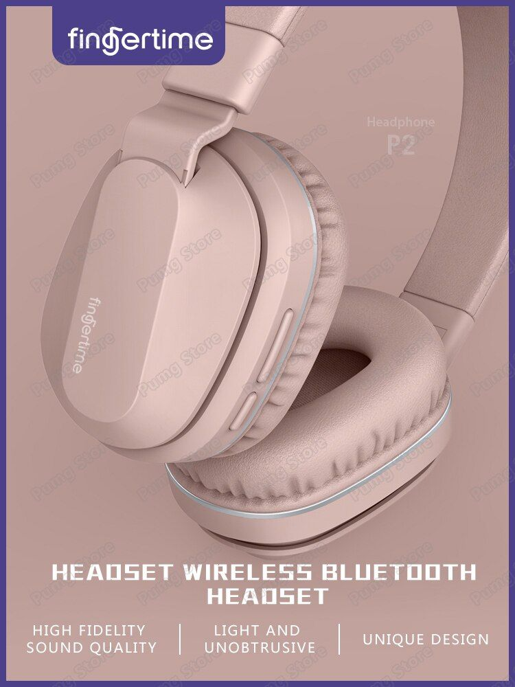 Ordinateur sans fil casque bluetooth pliable sport jeu casque pour médias musique bureau version casque P2 avec microphone