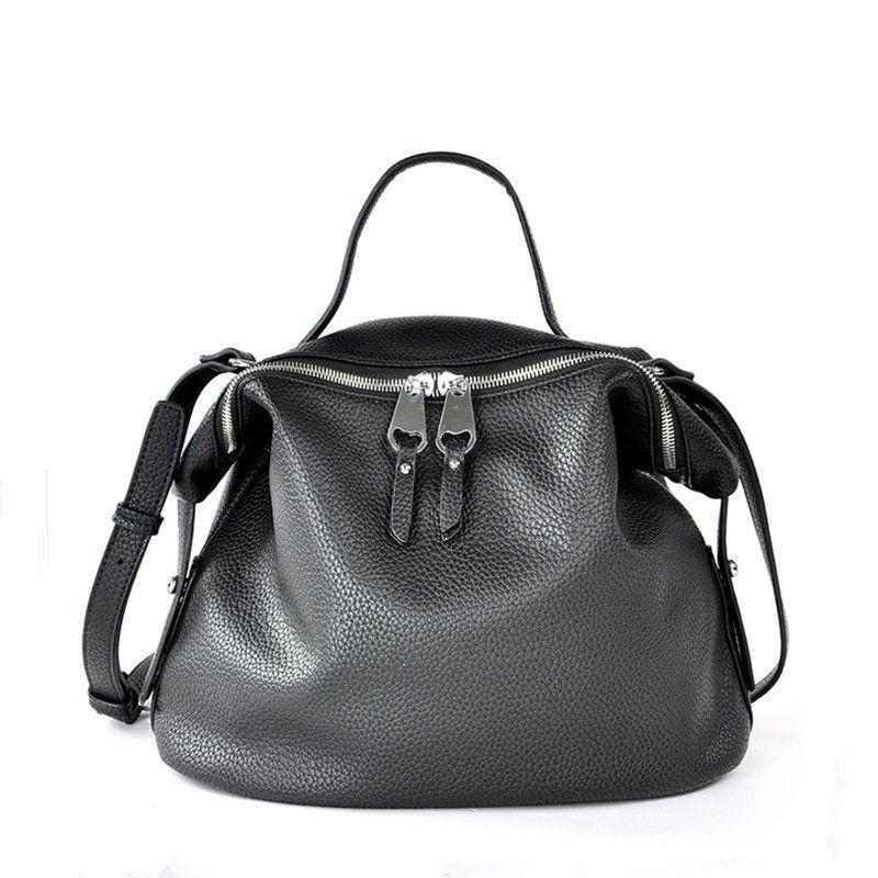 Sacs bandoulière pour femmes 2019 noir cuir Designer haute qualité PU Hobo sac à main pour fille couleur rose doux épaule fourre-tout sac à main