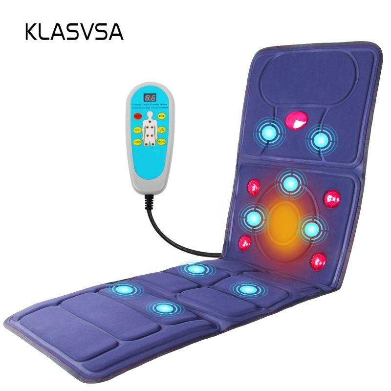 KLASVSA électrique vibrateur masseur matelas infrarouge lointain chauffage thérapie cou dos Massage Relaxation lit Vibrador soins de santé