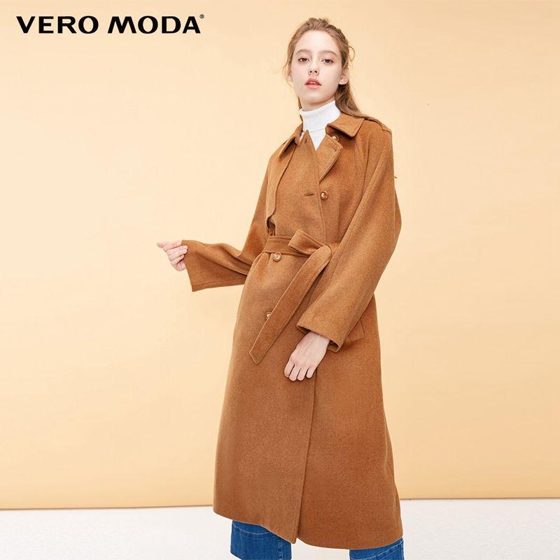 Vero Moda frauen New British Wind Raglan Ärmeln Lange Woolen Mantel   318327536