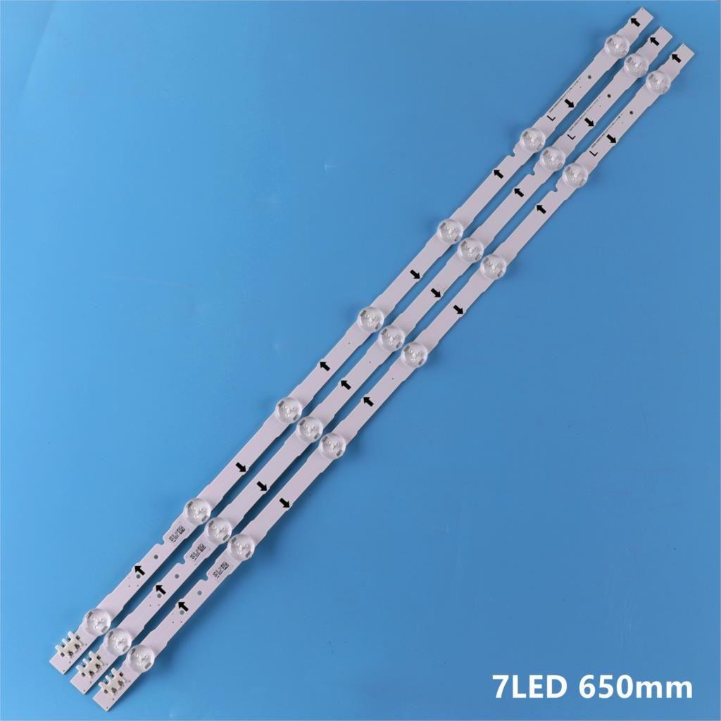 650mm LED Lampe de Rétro-Éclairage bande 7 LED s Pour samsung 32 pouces TV 2014SVS32HD D4GE-320DC0-R3 CY-HH032AGLV2H BN41-02169A BN96-30445A