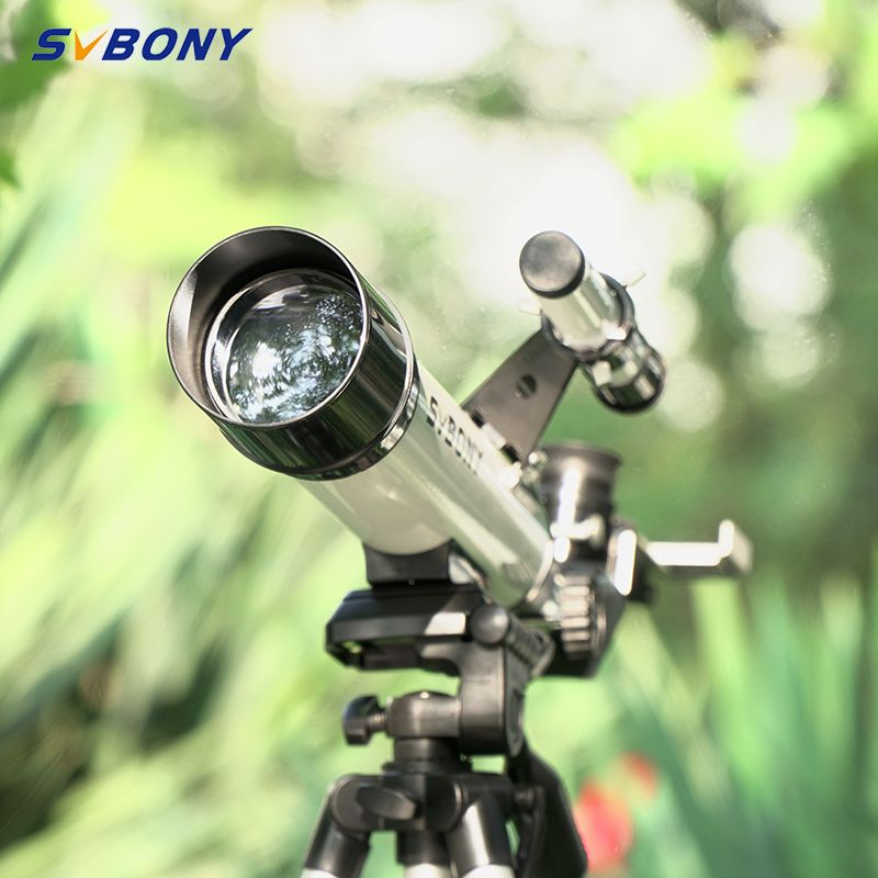 Télescope monoculaire SV25 60/420mm réfracteur + trépied + portée de recherche optique pour montre voyage lune oiseau pour enfants et étudiants