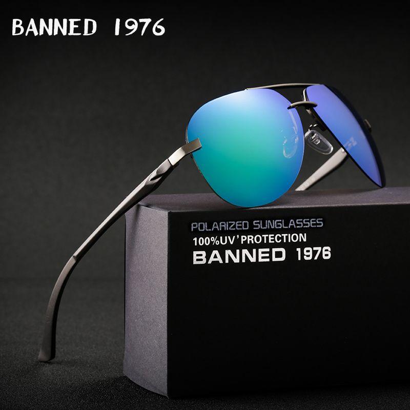 Aluminium magnésium HD lunettes de soleil polarisées mode femmes hommes conduite lunettes de soleil vintage oculos de sol avec boîte de marque d'origine