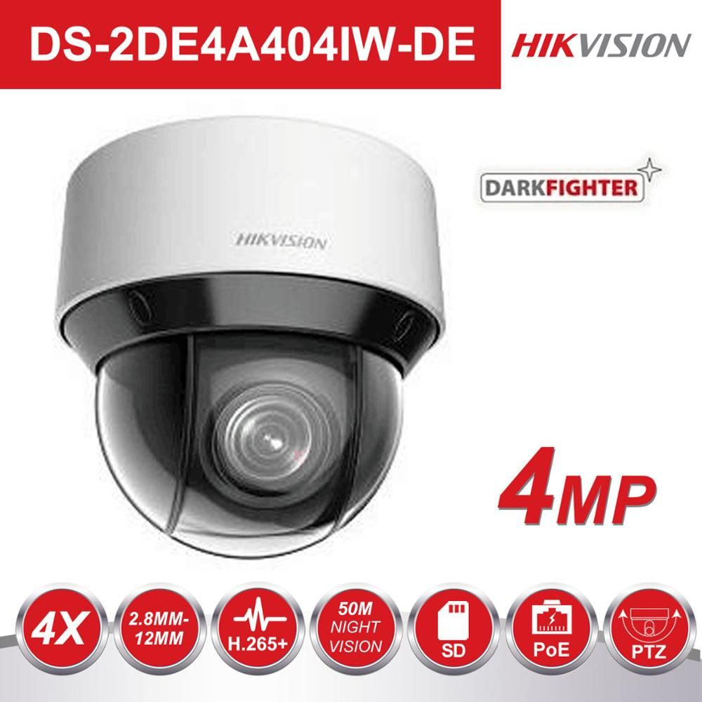 Hikvision Dark Kämpfer Video Überwachung Kamera DS-2DE4A404IW-DE 4MP 4X 2,8-12mm Dome PTZ IP Kamera H.265 + Digital defog