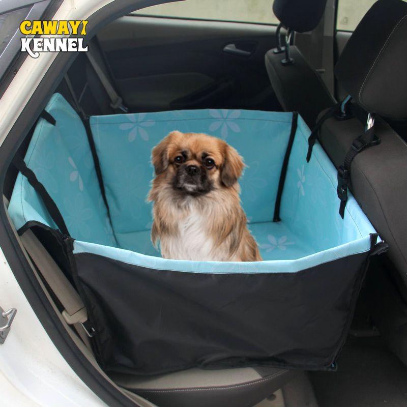 CAWAYI chenil porte-animaux chien couverture de siège de voiture portant pour chiens chats tapis couverture arrière hamac protecteur transportin perro