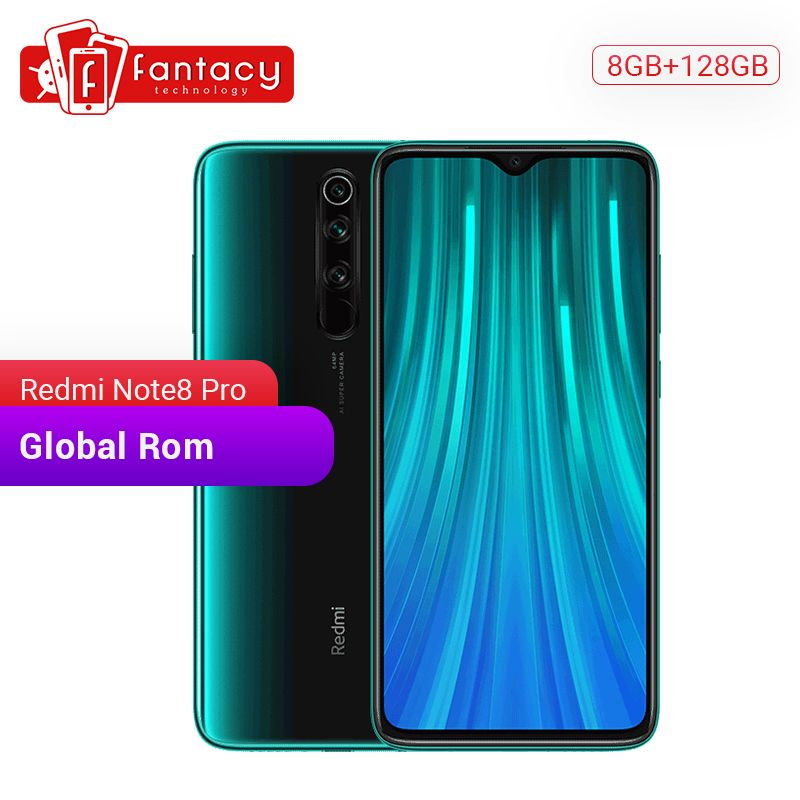 Globale ROM Redmi Hinweis 8 Pro 8GB RAM 128GB ROM Handy 64MP Quad Kameras MTK Helio G90T Smartphone 4500mAh 18W QC 3,0 UFS 2,1