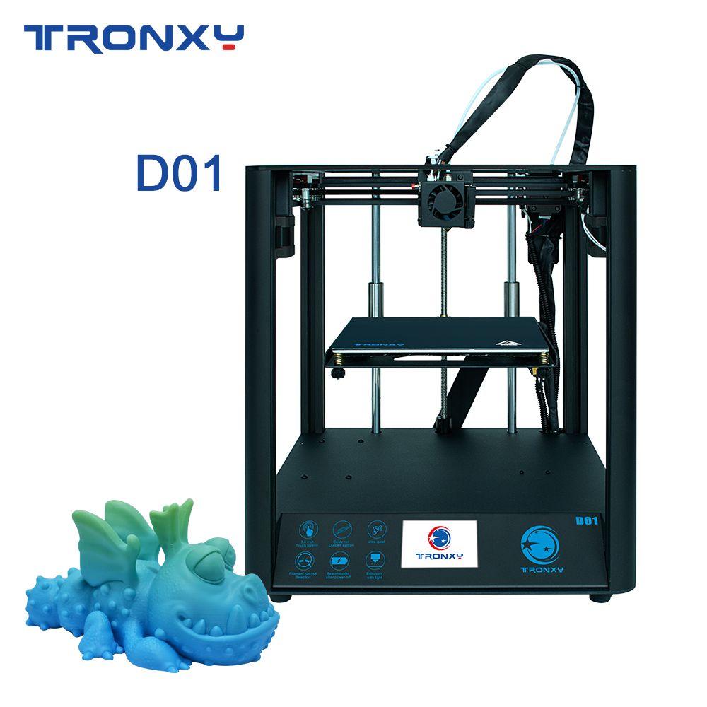 TRONXY D01 3D Drucker Schnelle Montage mit Industrie Linear Guide Titan Extruder 3D Druck Ultra-Ruhigen Modus, acryl Maske wählen