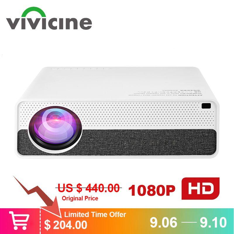 Vivicine M19 Neueste 1080p Projektor, option Android 9.0 HDMI USB PC 1920x1080 Full HD LED Heimkino Video Projektor Proyector