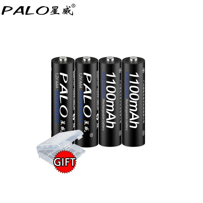 4 pièces PALO rechargeable Bateria Piles AAA NI-MH 1100mAh Faible autodécharge AAA Batterie Rechargeable 3a Pour Microphone