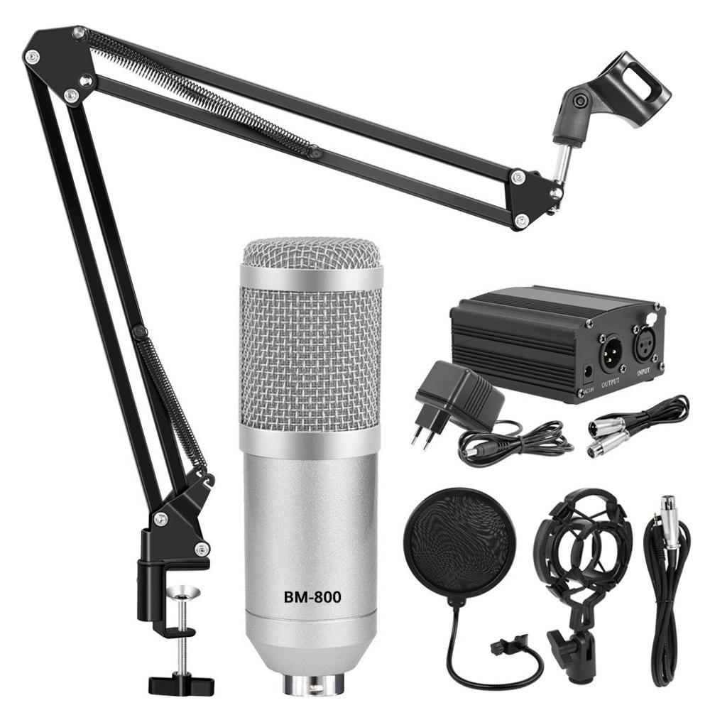 Kits professionnels de Microphone à condensateur de Microphone de karaoké BM 800 Bundle Mikrofon pour ordinateur Microfone pour enregistrement Audio Vocal