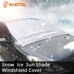 Partol Universal Car Windshield Cover Automobile Snow Ice Sunshade Shield Winter Windshield Visor Cover Front Windscreen Cover