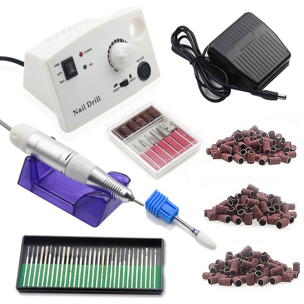 35000 RPM Electric Nail Drill Machine Nail Art Equipment Manicure Kit Ceramic Nail Drill Bit Sanding Band Accessories Nail Tool