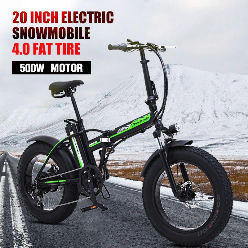 500w Elektrische fahrrad 20 zoll Motorrad 48v elektrische Folding fahrrad Berg e fahrrad Radfahren elektrische Schnee Bike fett reifen