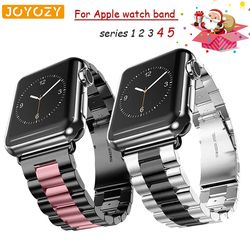 Joyozy Stainless Steel Bracelet Strap for iwatch Series 4 5 3 2 1 Replacement Watchband for Apple Watch 38mm 42mm 40mm 44mm