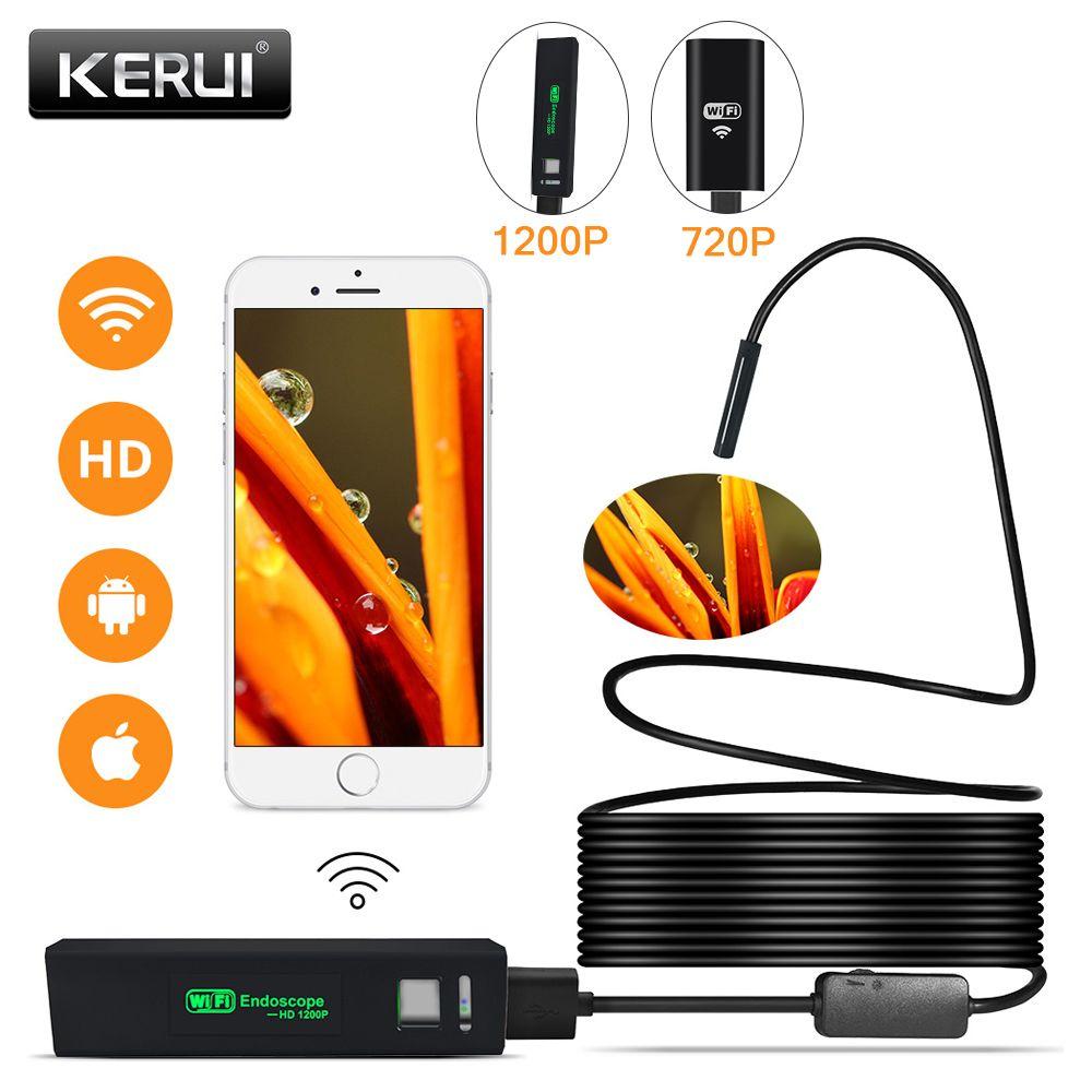 KERUI WIFI Endoscope caméra Mini étanche câble souple caméra d'inspection 8mm 1M USB Endoscope Endoscope IOS Endoscope pour Iphone