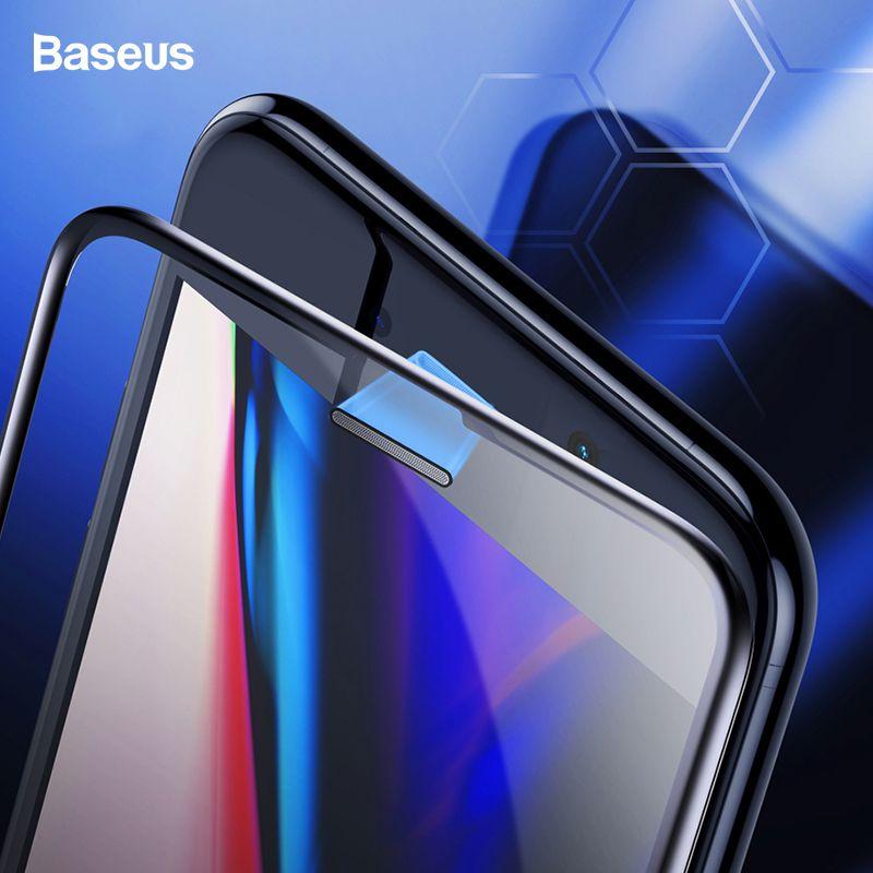 Baseus 0.3mm étanche à la poussière protecteur d'écran en verre trempé pour iPhone 8 7 6 6s S Plus 7plus 8plus couverture complète Film de protection en verre