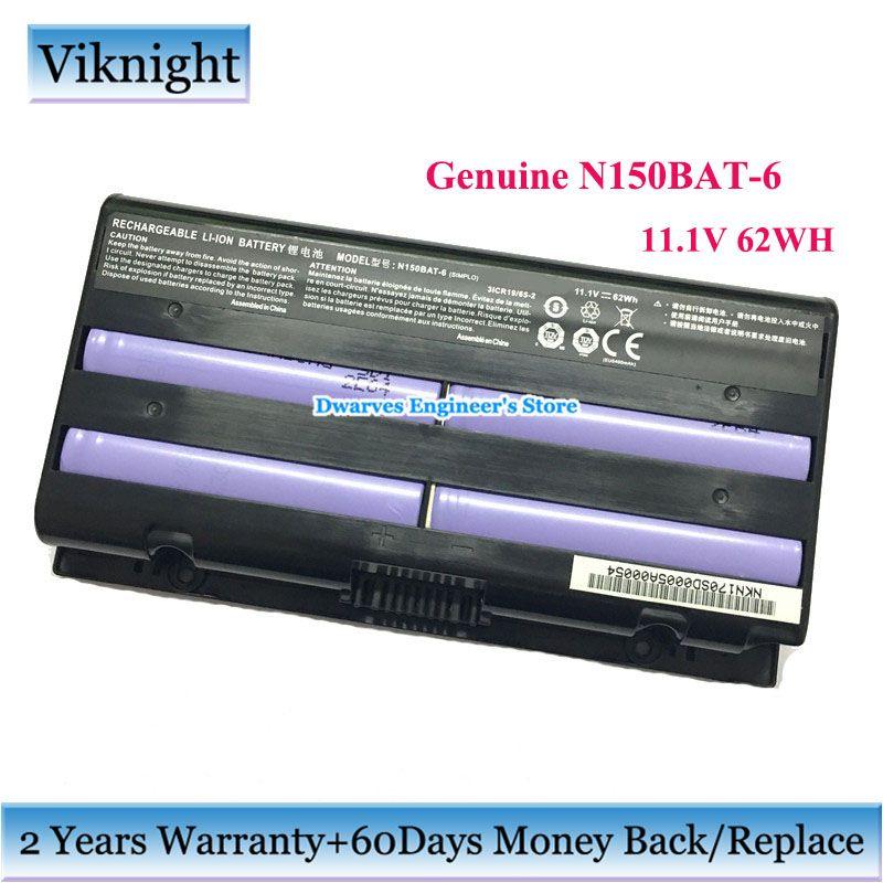 Original N150BAT-6 Laptop Batterie für Clevo N150BAT-6 Metabox Alpha N170SD N150SD N151SD N155S 6-87-N150S-4292 Batterie 62Wh