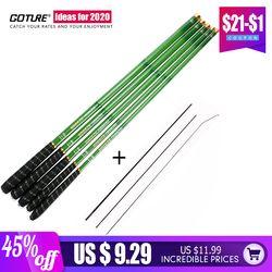 Goture Telescopic Fishing Rod Carbon Fiber 3.0m-7.2m Stream Fishing Rods Ultra Light Hand Pole Carp Fishing Feeder Tenkara Rod