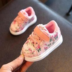 2019 Cute Flower Baby Girls Shoes Comfortable Leather Kids Sneakers For Girl Toddler Newborn Shoes Soft Bottom First Walker