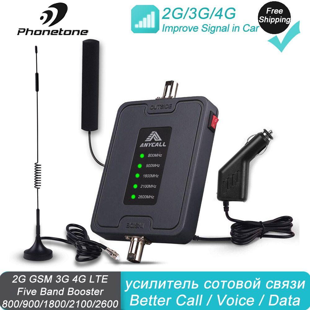 100% Original handy GSM Repeater 4G 2G LTE 1800MHz DCS gsm 45dB Handy Signal Booster verstärker Kit für Auto Lkw Verwenden