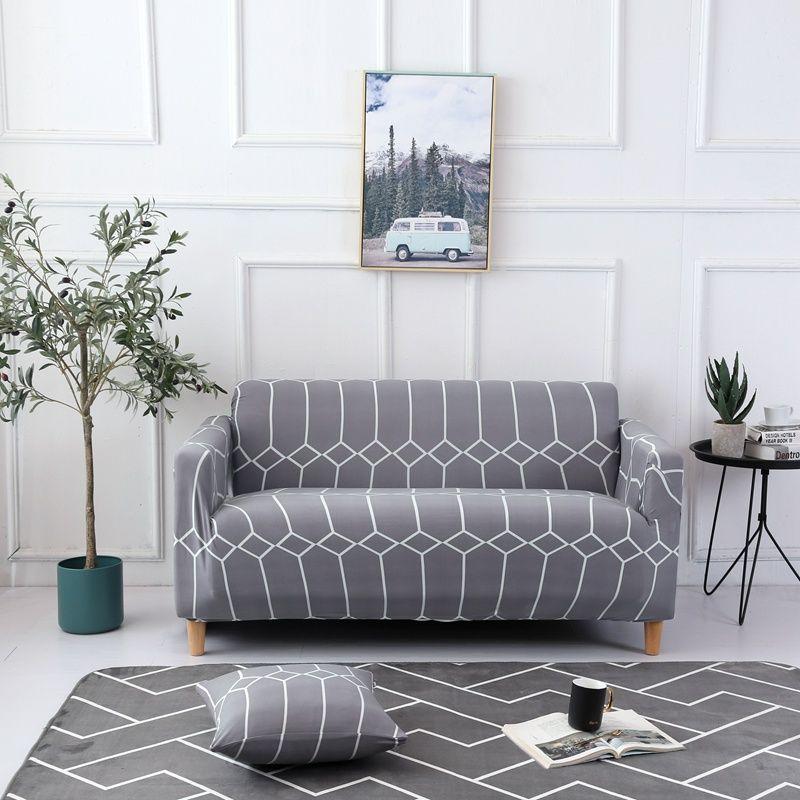 Housse de canapé élastique imprimé fleurs housse de protection étanche tout compris housse de canapé d'angle housse de meubles extensible 1/2/3/4 places
