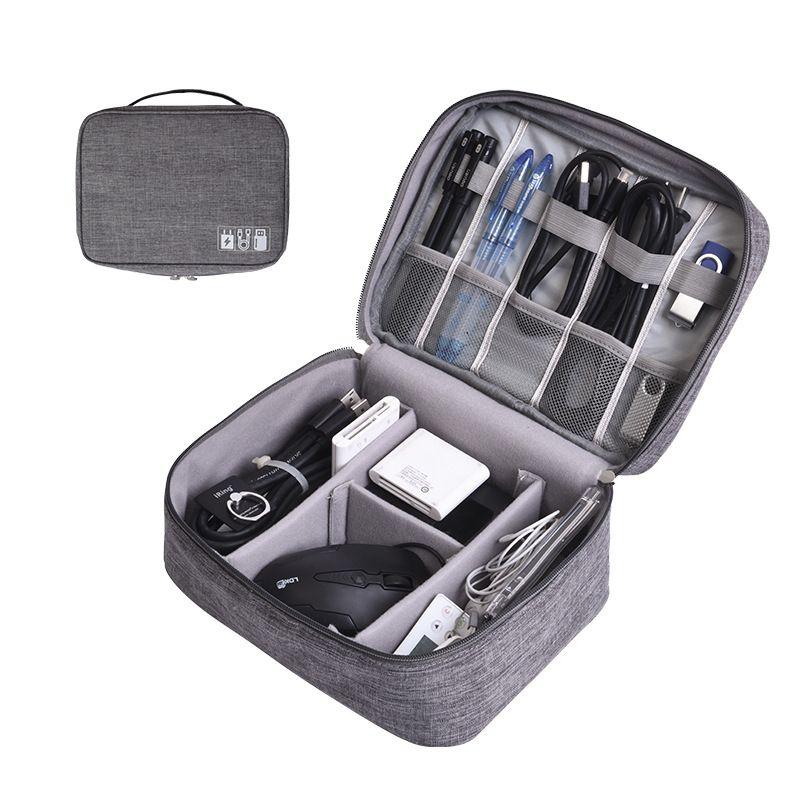 Portable numérique sacs de rangement organisateur USB Gadgets câbles fils chargeur batterie à glissière sac cosmétique accessoires article