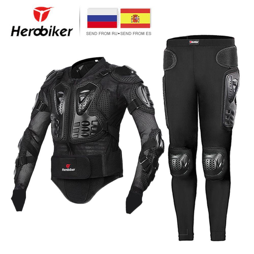HEROBIKER veste de Moto hommes complet corps Moto armure Motocross course Moto veste équitation Moto Protection taille S-5XL #